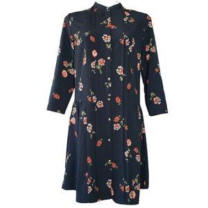 JustFab    Pintuck Peasant Pleated Shirt Dress S